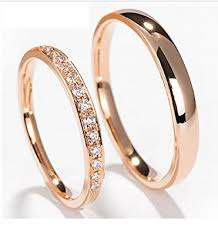 diamond couple rings images Gowe natural diamond couple rings for lovers solid 18k jpg