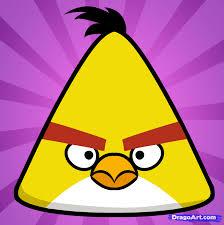 draw yellow bird yellow angry bird step step