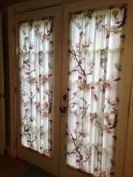 french door curtains made from a 19 00 target shower curtain that we cut in half home diy target shower curtains french door curtains