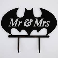 batman cake toppers mr mrs batman acrylic wedding birthday day cake topper