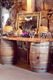 Wine Barrel Home Decor Diy Barrel Buffet Table Could Even Use In A Country Kitchen As