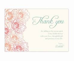 bridal shower cards what to write in a wedding shower card fresh thank you cards for