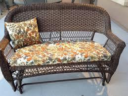 rattan sofa wicker floral cover cushion patio furniture cushion