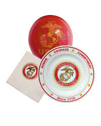 celebrate plate usmc birthday plastic plates and cups the marine shop