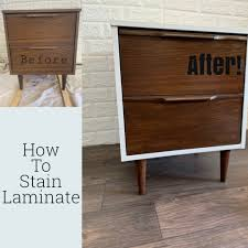 how to wood veneer furniture how to gel stain laminate furniture yes you can