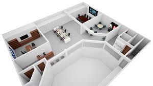 3d floor plan rendering cg frame services office isometric loversiq