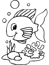 kids fun 41 coloring pages fish