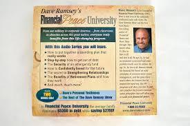 amazon com dave ramsey u0027s financial peace university audio cd