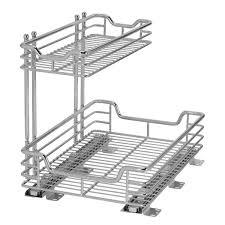 bathroom wall mount silver iron storage for under sink organizer