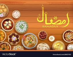 cuisine ramadan iftar invitation greeting ramadan kareem vector image