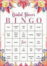 bridal shower gift bingo falling in bridal shower fall wedding theme celebrate