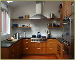 Backsplash Maple Cabinets White Subway Tile Backsplash With Cherry Cabinets Home Design Ideas