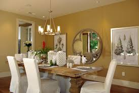 luxury dining room design with oversized wooden table and six
