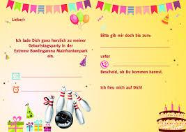 einladungssprüche kindergeburtstag einladung kindergeburtstag kegeln text mottopartys