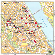 Cologne Germany Map by Mainz Map Tourist Attractions To Learn More About Mainz