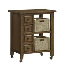 hillsdale tuscan retreat kitchen cart with four drawers u0026 two