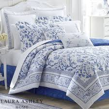 Laura Ashley Twin Comforter Sets Charlotte Blue And White Floral Comforter Bedding By Laura Ashley