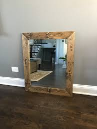 Wood Mirrors Bathroom Walnut Farmhouse Mirror Country Framed Mirror Wood