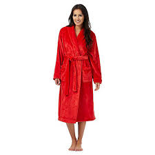lounge u0026 sleep orange fleece dressing gown debenhams