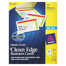 Ivory Business Cards Avery Inkjet Two Sided Printable Clean Edge Business Cards