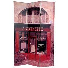 Canvas Room Divider Oriental Furniture 6 U0027 Double Sided Brasserie Canvas Room Divider