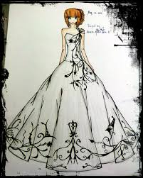 evening gown sketches dress images