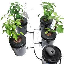 viagrow hydroponic black bucket deep water and grow light kit 4