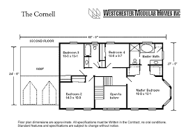Floor Plans For Modular Homes Cornell By Westchester Modular Homes Two Story Floorplan