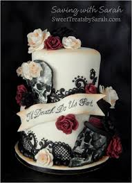 skull wedding cakes wedding cake with skulls roses and black lace sweet treats