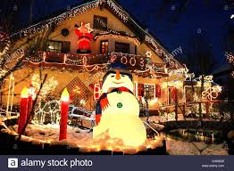 dpa a view of a house adorned with illuminated christmas stock