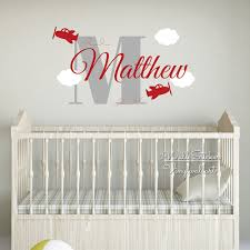 popular baby room wall decals name buy cheap baby room wall decals boys name wall sticker airplane name wall decal baby nursery cut vinyl stickers kids room personalized
