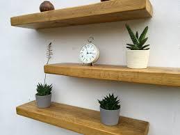 chunky pine wall shelf