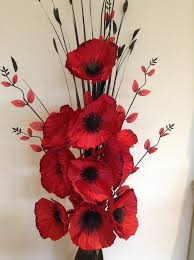 poppies flowers beautiful artificial poppies flower arrangement with vase