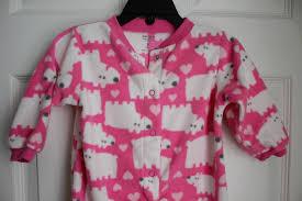 lot of 3 carters baby footie pajamas sleep n play sleepwear