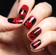 amateur manicure a nail art blog painting the roses red nails