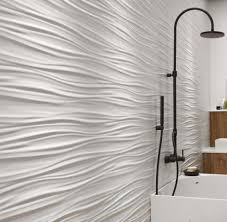 Feature Tiles Bathroom Ideas Amazing Feature Wall In A Fresh Bathroom 3d Ceramic Wall Tiles
