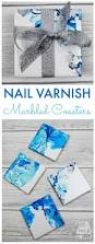 how to make nail varnish marbled coasters these beautiful marbled