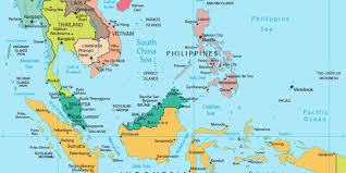 map of aisa southeast asia october 2017
