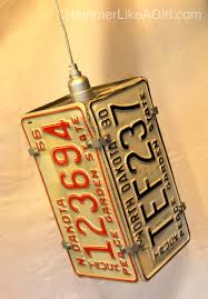 Man Cave Ideas On A Budget Handmade Holiday Market License Plates Pendant Lighting And