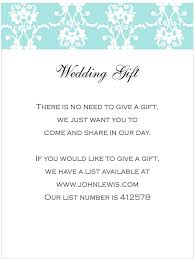 wedding gift registry list how to word gift registry on wedding invite 23467 patsveg