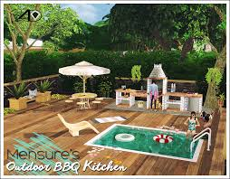 Outdoor Kitchen Bbq 3t4 Mensure Bbq Outdoor Kitchen Set Sims 4 Designs