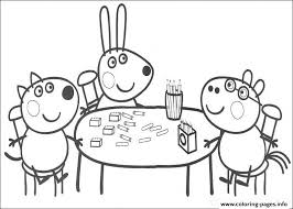 kids peppa pig colouring pages kids printable9827 coloring pages