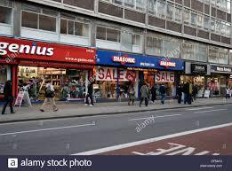 Tottenham Court Road Interior Shops Shops Selling Electronic Goods On Tottenham Court Road Stock Photo