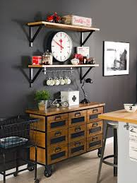 perfect industrial look kitchen on home decor arrangement ideas