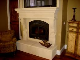 coral stone usa cast stone fireplace