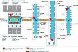 Mia Airport Map Denver Airport Map Us Airways Denver Airport Terminal Map