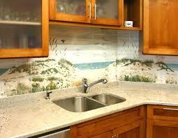 Coastal Kitchen Backsplash Ideas With Tiles From Beach Murals To - Backsplash mural