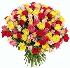 100 Roses Filgiftshop 100 Multicolor Roses Bouquet Filgiftshop