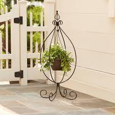 floor plant essential garden hanging basket plant stand