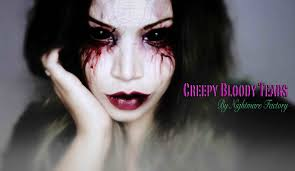 Halloween Makeup For Witches Easy Halloween Make Up U2020 Creepy Bloody Tears U2020 Youtube